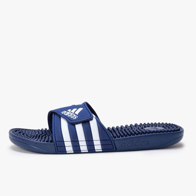 Adidas Adissage - Dark Blue / White - Side - Off The Hook Montreal