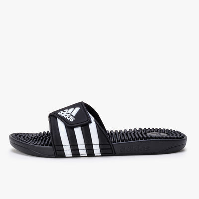 Adidas Adissage - Black / White - Side - Off The Hook Montreal