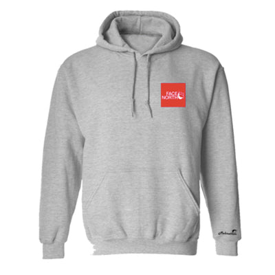 Face North Pullover Hoodie Heather Grey - men's