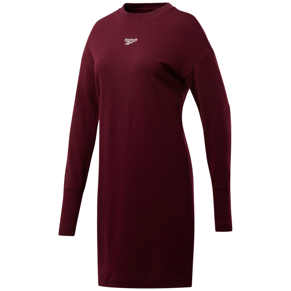 Reebok FT8195 Classics Small Logo Dress Maroon front available at off the hook montreal