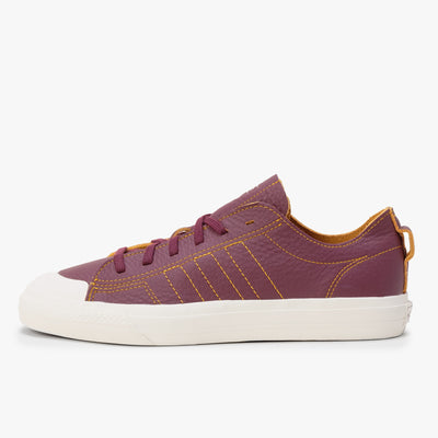 Adidas Nizza - White / Gold / Maroon - Side - Off The Hook Montreal