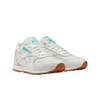 Reebok FV1080 W Classics Leather Chalk / Green / White front 3/4 disponible à off the hook montreal