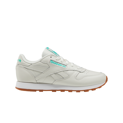 Reebok FV1080 W Classics Leather Chalk/Green/White right outer shoe view available at off the hook montreal