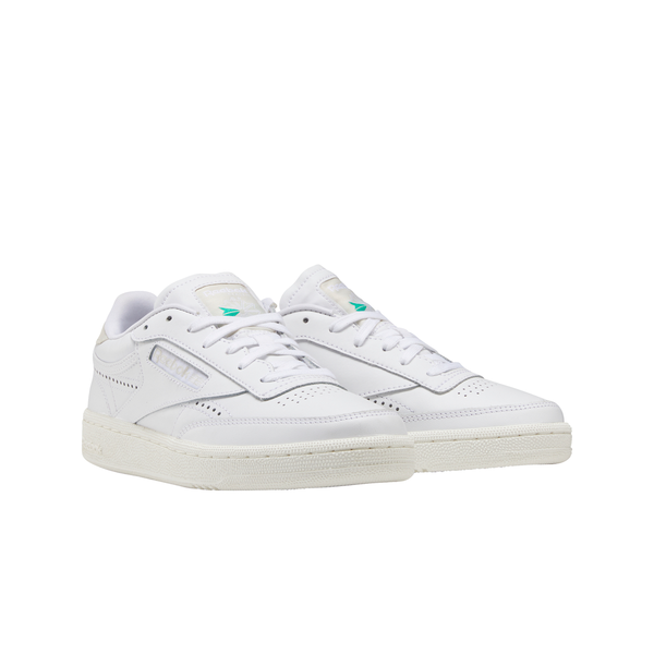 Reebok FV1095 Club C 85 White/Alabaster/Chalk front 3/4 available at off the hook montreal