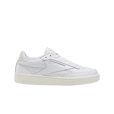 Reebok FV1095 Club C 85 White/Alabaster/Chalk right outer shoe view available at off the hook montreal