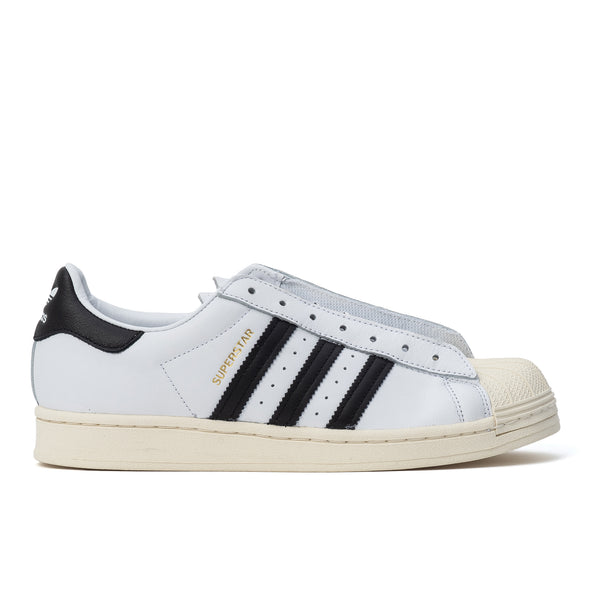 Adidas Superstar Laceless - Cloud White / Black - Side - Off The Hook Montreal
