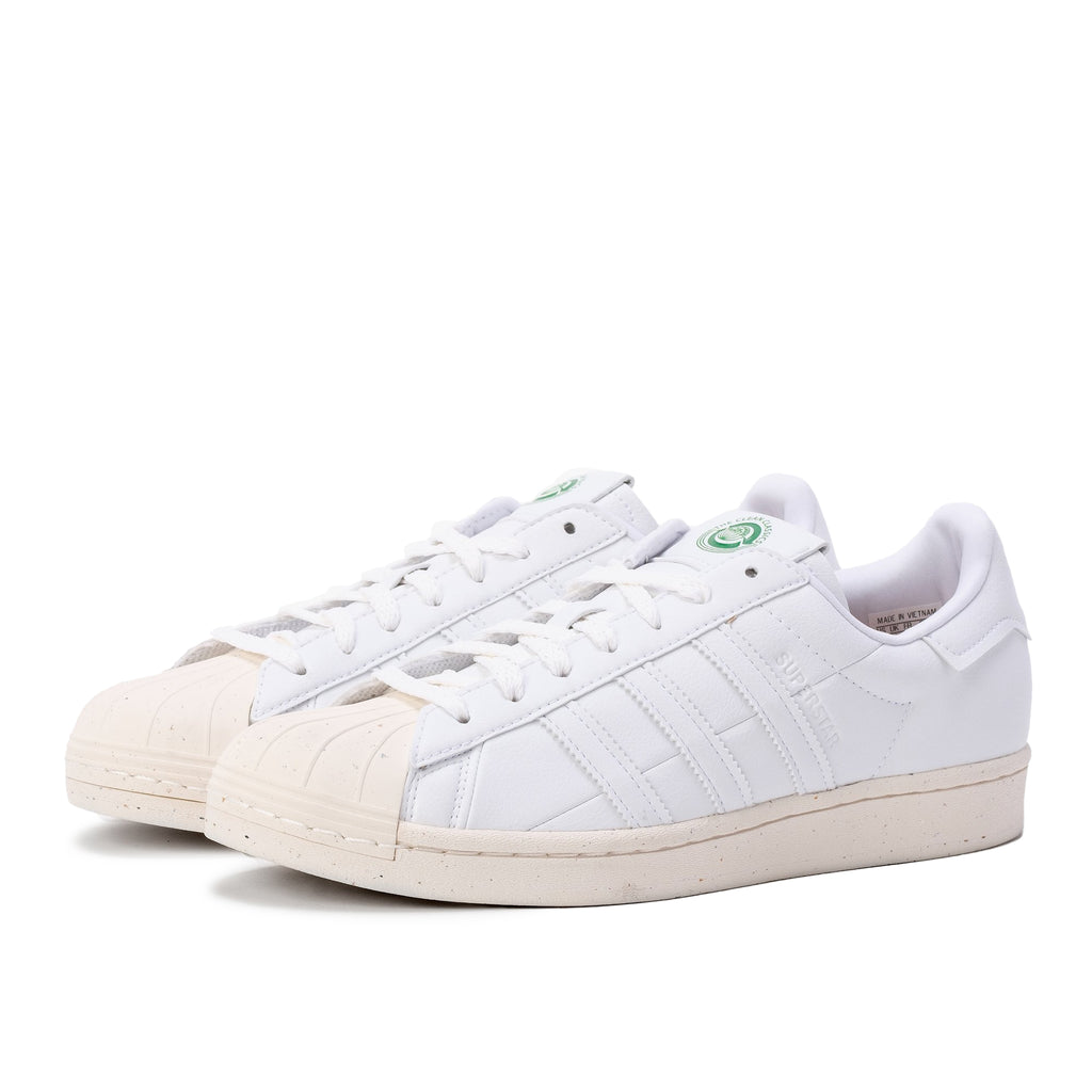 Adidas Superstar Vegan - White / Green - 45deg - Off The Hook Montreal