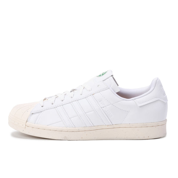 Adidas Superstar Vegan - White / Green - Side - Off The Hook Montreal