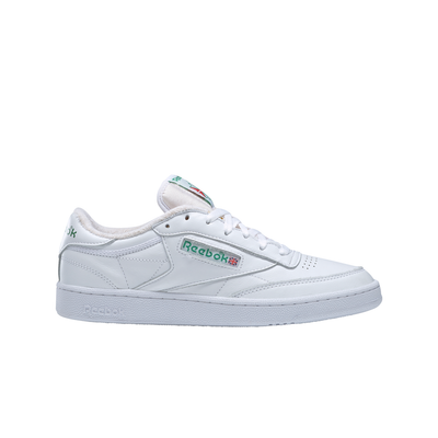 Reebok FX3874 Club C 85 White/Green right outer shoe view available at off the hook montreal