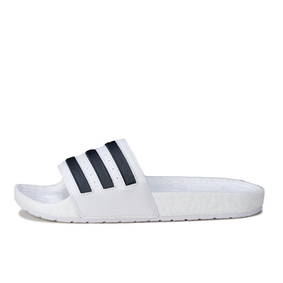 Adidas Adilette Boost - White / Black  - Side - Off The Hook Montreal