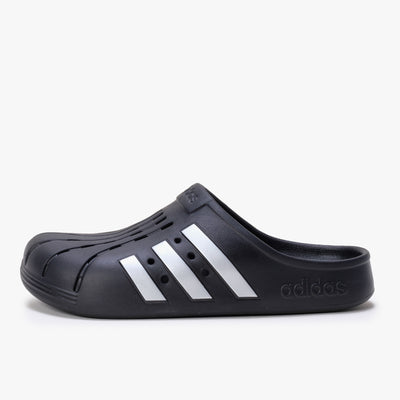 Adidas Adilette Clog - Black / Silver - Side - Off The Hook Montreal