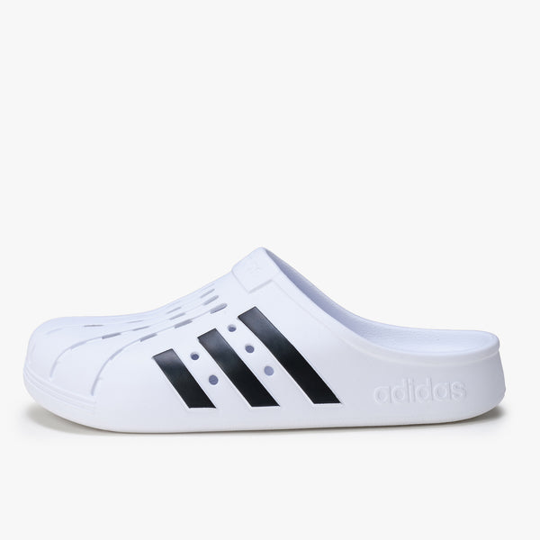 Adidas Adilette Clog - White / Black - Side - Off The Hook Montreal