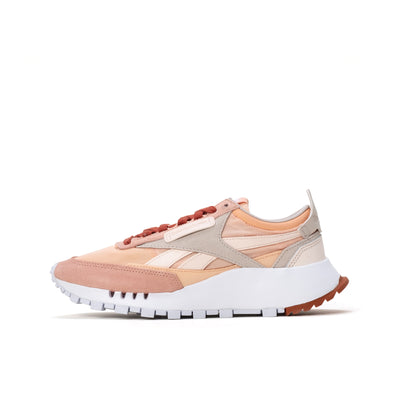 Reebok CL Legacy - Ceramic Pink / Aura Orange / White - Side - Off The Hook Montreal