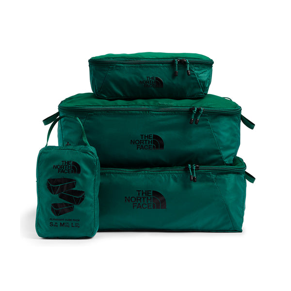 The North Face NF0A3KX9NL1 Flyweight Package Evergreen 3 compartments stacked S M L available at off the hook montreal
