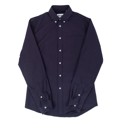 Bon Vivant Gino Over Dyed Poplin Shirt - Purple - Front - Off The Hook Montreal
