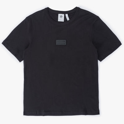 Adidas Silicon Badge T-Shirt - Black - Front - Off The Hook Montreal