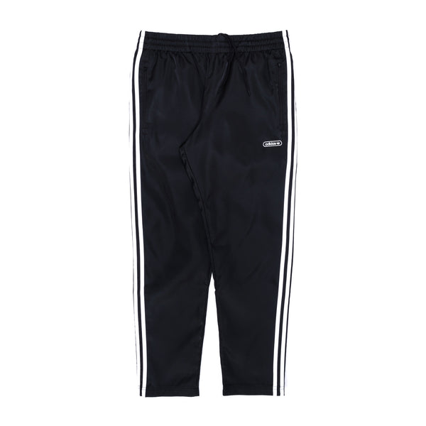 adidas Satin Firebird Pants - Black / White - Front - Off The Hook Montreal