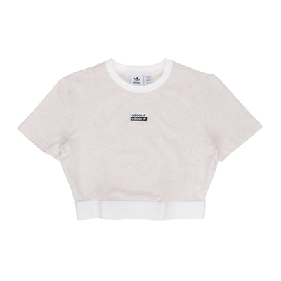 adidas W Cropped Tee - Off White - Front - Off The Hook Montreal