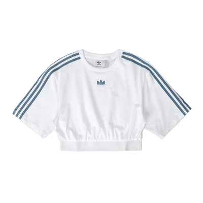 GT8474 Adidas Originals Cropped Tee - front - available at off the hook montreal #color_white