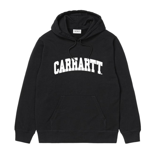 Carhartt WIP Hooded Univesity Sweatshirt - Black / White - Front - Off The Hook Montreal