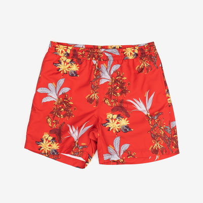 Carhartt WIP Drift Swim Trunk Hawaiien Floral - Print Red - Front - Off The Hook Montreal