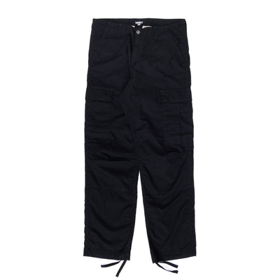 Cahartt WIP Regular Cargo Pant - Black - Front - Off The Hook Montreal #color_black