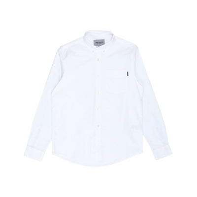 Carhartt WIP L/S Button Down Pocket Shirt - White - Front - Off The Hook Montreal