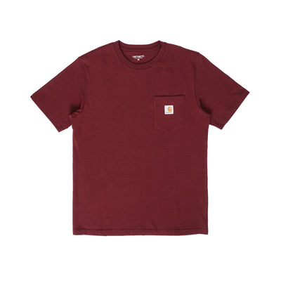 Carhartt I022091 Pocket T-Shirt Bordeaux - front - available at off the hook montreal
