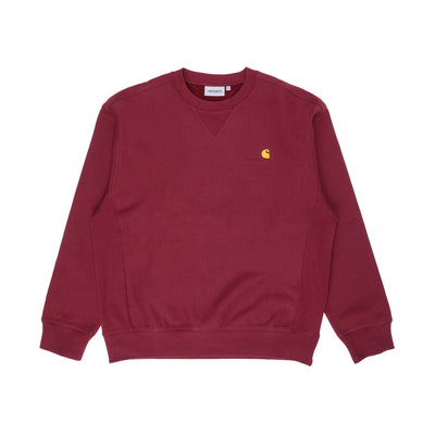 Carhartt WIP American Script Sweatshirt Bordeaux front available at off the hook montreal