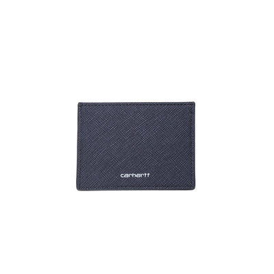 Carhartt I026209 Coated Card Holder Black/White front available at off the hook montreal #color_black_white