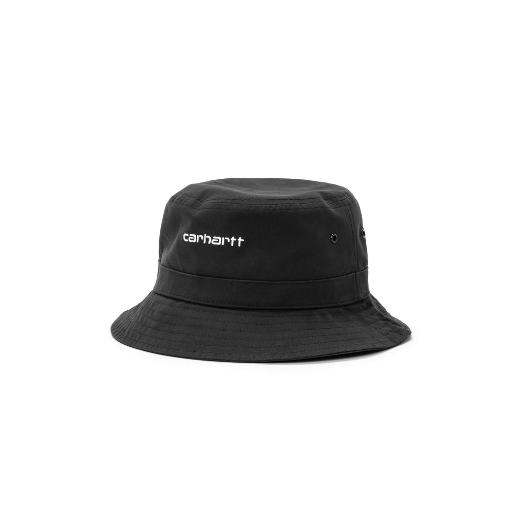 Carhartt WIp I026217 Script Bucket hat Black / White est maintenant disponible à off the hook montreal