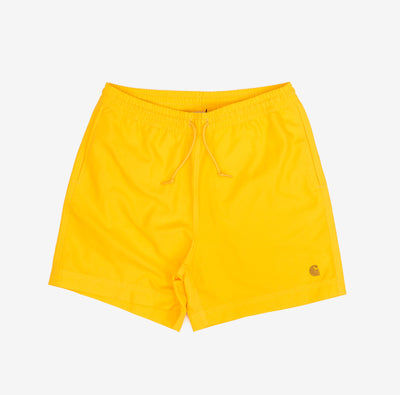 The Chase Swim Trunk is constructed from lightweight, fast-drying polyester. Features embroidered Carhartt 'C' motif on left leg, two side pockets and inner trunk. A pocket on the back adds utility with it's interior key holder.  100% Polyester, 3.7 oz Water Repellent Product code: I026235.08P.90 off the hook oth streetwear boutique canada montreal