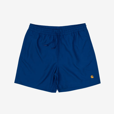 Carhartt WIP Chase Swim Trunk - Submarine / Gold - Front - Off The Hook Montreal