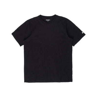 Carhartt WIP Base T-Shirt Black / White is now available at off the hook montreal #color_black