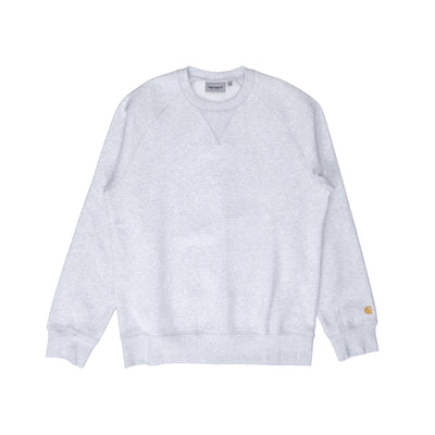 I026383 Chase Sweatshirt - white - front  - available at off the hook montreal #color_ash-heather-gold