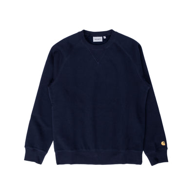 I026383 Chase Sweatshirt - white - front  - available at off the hook montreal #color_dark-navy-gold
