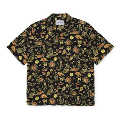 Carhartt WIP I027530.09Q.00 Paradise Shirt Yellow - front - available at off the hook montreal