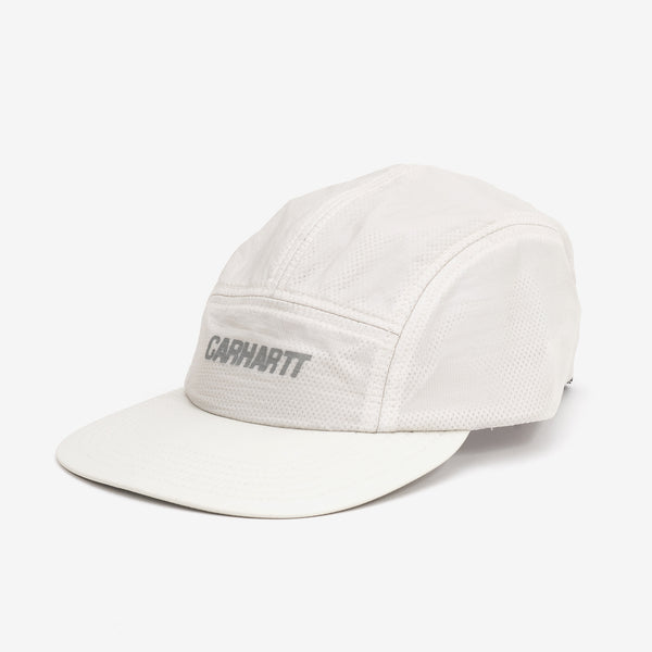 The Turrell Cap in Pebble / Reflective Grey from Carhartt WIP is an ultra-lightweight, unstructured five panel cap with a reflective logo. The brim is made to be flexible, and the elastic panel at the back keeps the cap firmly on your head. 100% Nylon Micro Ripstop, 1 oz Product Code : I027610.09C.00 off the hook oth streetwear boutique canada montreal