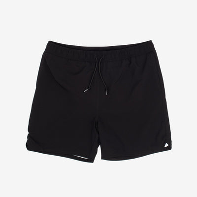 "The Aran Swim Trunks in Black are lined trunks constructed from lightweight, fast-drying polyester. Features a summery take on Carhartt 'C' logo as a rubberized patch. They boast two side pockets, and a zip pocket on the back adds utility with it's interior key holder.  100% Polyester, 3 oz 6"" inseam Water Repellent Product Code : I027640.89.00 off the hook oth streetwear boutique canada montreal"