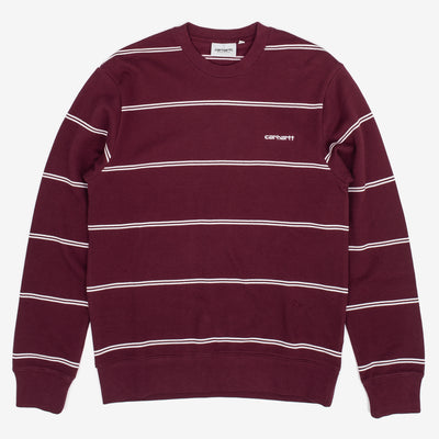 Carhartt Space Sweatshirt - Shiraz / White - Front - Off The Hook Montreal