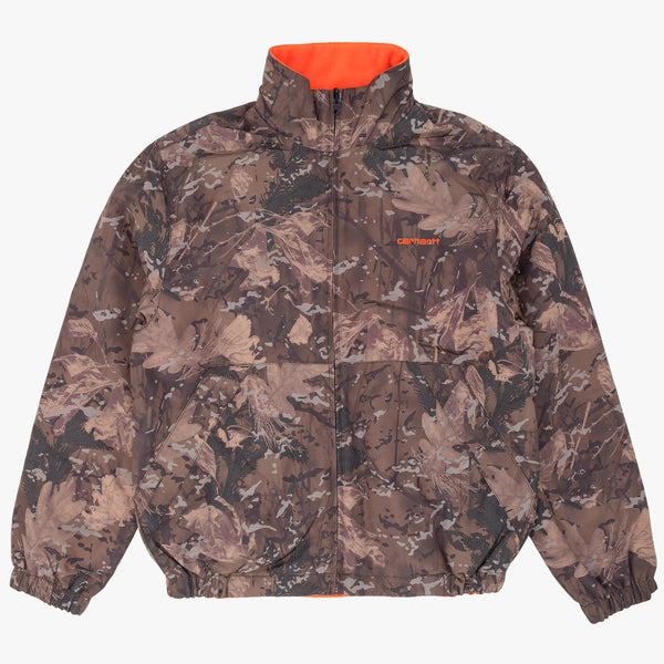 Carhartt  I028094 Denby Reversible Jacket Camo/Orange - front view - available at off the hook montreal