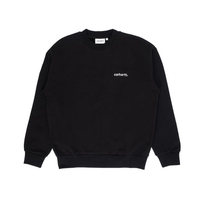 Carhartt WIP W' Typeface Sweatshirt Black/White front available at off the hook montreal