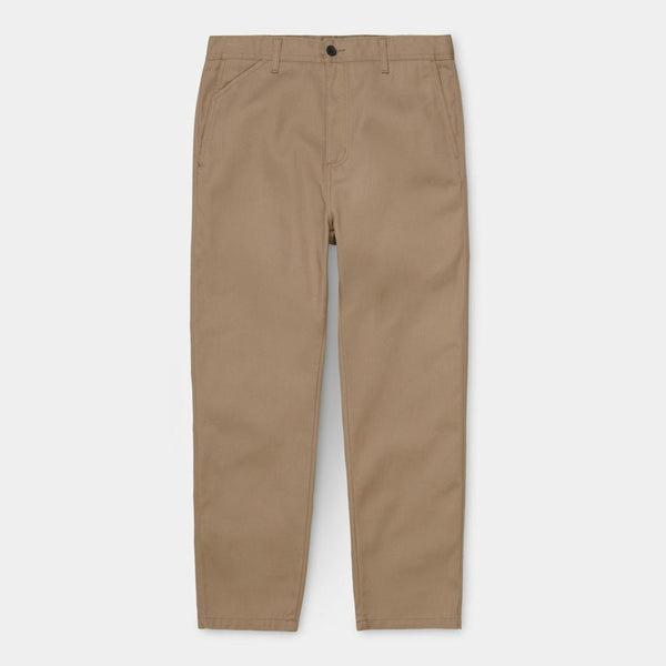 Carhartt WIP Menson Pant Leather front view available at off the hook montreal