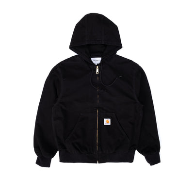 Carhartt WIP Active Jacket - Black Rinsed - Front - Off The Hook Montreal #color_black-rinsed