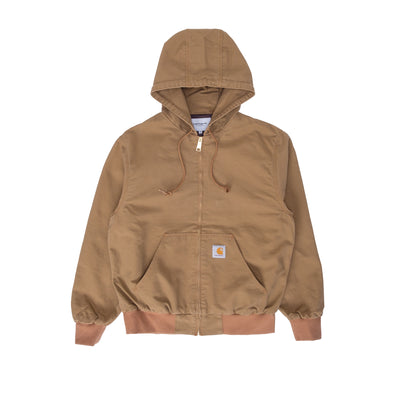 Carhartt WIP Active Jacket - Hamilton Brown Rinsed - Front - Off The Hook Montreal #color_hamilton-brown-rinsed