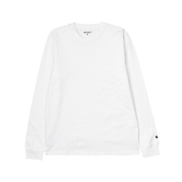 Carhartt WIP LS Base T-Shirt - White / Black - Front - Off The Hook Montreal