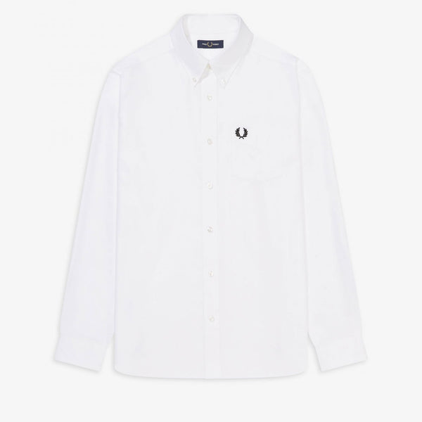 Fred Perry Oxford Shirt - White - Front - Off The Hook montreal