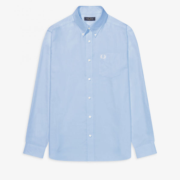 Fred Perry Oxford Shirt - Light Smoke - Front - Off The Hook montreal