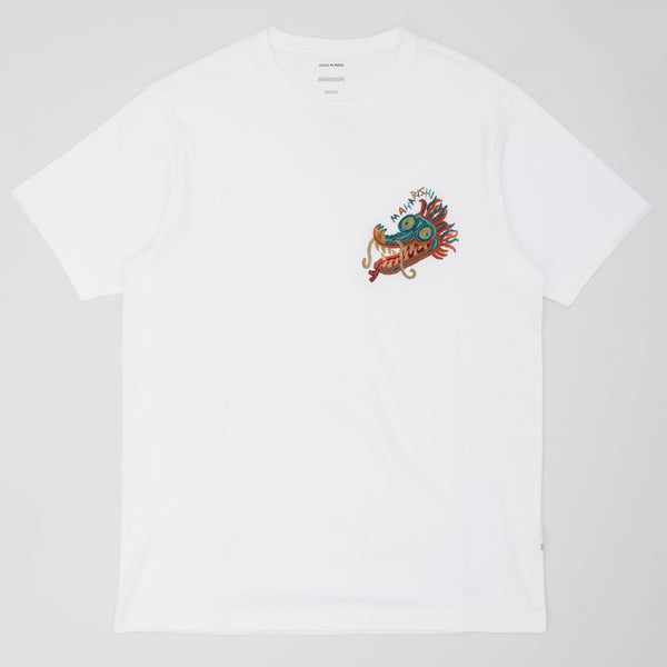 Maharishi Liberty Dragon Organic T-Shirt - White - Front - Off The Hook Montreal