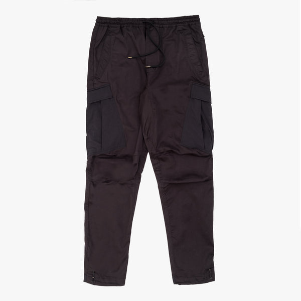 Maharishi Woven Cargo Trackpants Mil Spec Cell - Black - Front - Off The Hook Montreal